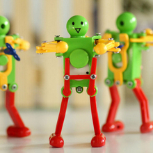 1 pc Creative Cute Dancer Clockwork Spring Dancing Robot Wind up Toys Retro Vintage Mechanical Toy Baby Toys Kids Gifts(China)