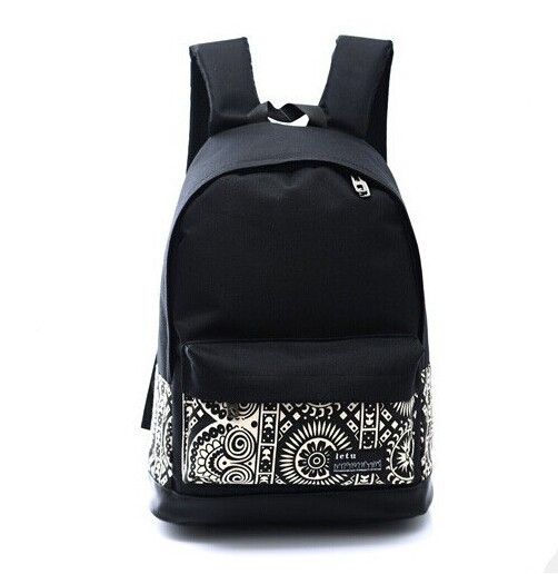 2017 New Fashion Womens Canvas Backpacks Rucksacks Men Student School Bags For Girl Boy Casual Travel Bags Mochila Black Color<br><br>Aliexpress