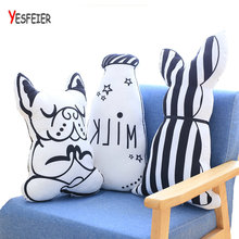 Creative Milk Bottle Pillow Toy Cartoon Dog Stuffed Toys Animal Pattern Print Pillows Dog Cushions for Home Decor Kids Room Bed(China)