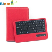 Binmer Mecall Tech Bluetooth Keyboard Leather Case Stand For Samsung Galaxy Tab 4 T230 7""