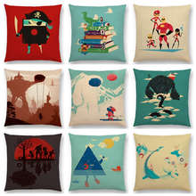 Hot Sale Interesting Magical Cartoon World Pirate Huge Robot Snow Monster Funny Toys Happy Cushion Home Decor Sofa Throw Pillow