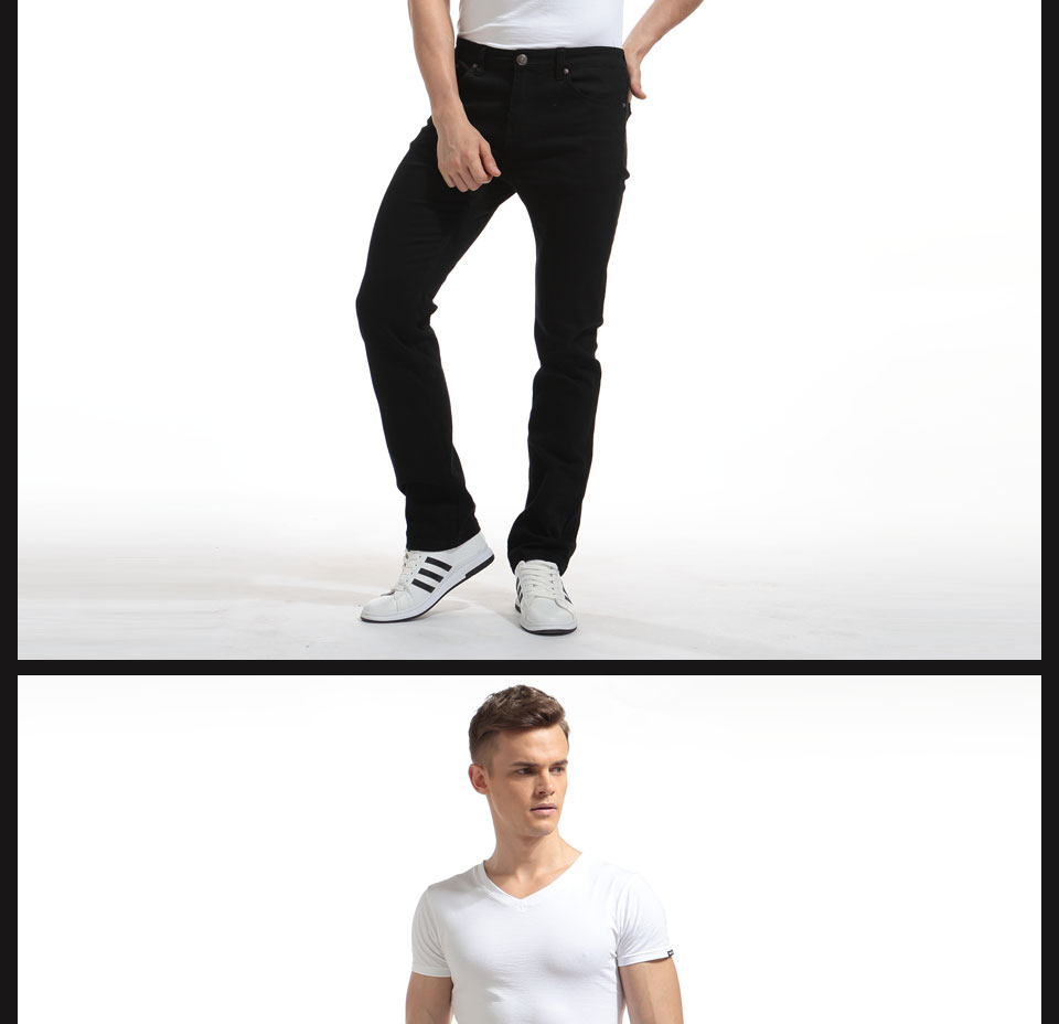 Alice & Elmer Pants Men Stretch Casual Pants For Men Slim Straight Pants Black Pantalones de hombre Jeans para homem 9