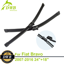 "Wiper Blades for Fiat Bravo 2007-2016 24""+18"", 2pcs Free Shipping, Good Windshield Wipers"