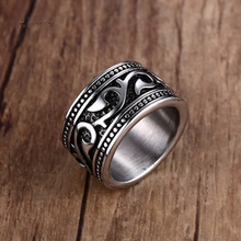 Vintage Engraved Barbed Vine Rings for Men Women Stainless Steel Gothic Floral Band Rock Biker Jewelry Aneis Masculinos