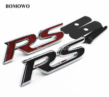 3D Metal RS Grille Badge Emblem Sticker for FORD Focus Chevrolet Cruze Skoda Octavia Mazda VW Hyundai Opel Car Styling(China)