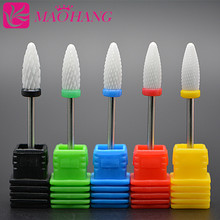 MAOHANG High quality 1PCS medium ceramic flame nail drill bits for electric nail manicure pedicure cutter machine tools(China)
