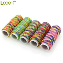 Looen 5Pcs/pack Rainbow Color Sewing Thread Hand Quilting Embroidery Sewing Thread for Home DIY Sewing Accessories Supplies Gift(China)