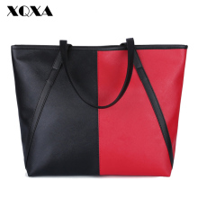 XQXA Famous Designer Brand Fashion Women Bag PU Leather Patch Work Large Women Messenger Bags sac a main Women Handbags Totes