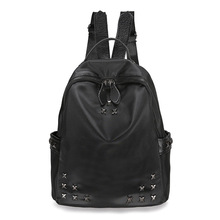 Fashion Women Backpack 2017 Newest Stylish Cool Black Nylon Bag Backpack Female Hot Sale Women Shoulder Bag School Bags(China)
