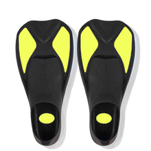 Yellow Black Rubber Scuba Diving Fins and Short foot Swimming fins and flipper Top watersport Adult diving and snorkeling gears(China)