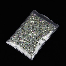 10bags/log SS20 AB color DMC Hot Fix Rhinestones crystal hot fix stone Iron On Rhinestones garment sewing stones