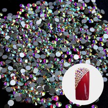 Crystal 1440 Rhinestones for Nails Design Nails Decorations New Arrive SS3 Rhinestones AB Nail Design Strass Nail Art ZJ1086