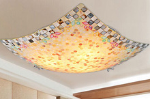Natural Colorful Shell Ceiling Light Tiffany Ceiling Lamp Romatic LED Bedroom Ceiling Lamp 40 cm