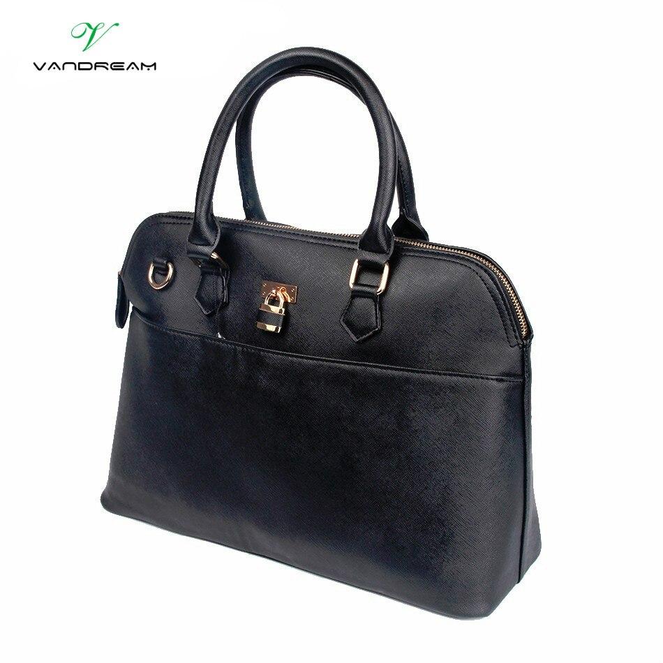 Handbag for Women Luxury Leather Handbags Tote Women Messenger Bags Ladies Shoulder Bag Business Fashion Lock High Quality Black<br>