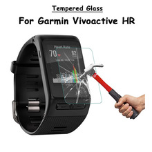 For Garmin Vivoactive HR Smart Watch Tempered Glass Screen Protector Ultra Thin Explosion-proof Protective Film + Cleaning Kit