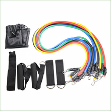 11Pcs/set Resistance Bands Yoga Pilates Crossfit Fitness Equipment Elastic Pull Rope Workout Latex Tube Band Set Exercise