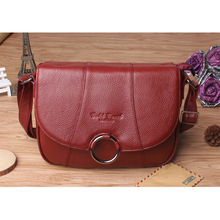 New Women Female Genuine Leather Shoulder Bag Purse Fashion Trends Casual Ladies Satchel Famous Brand Crossbody Messenger Bag(China)