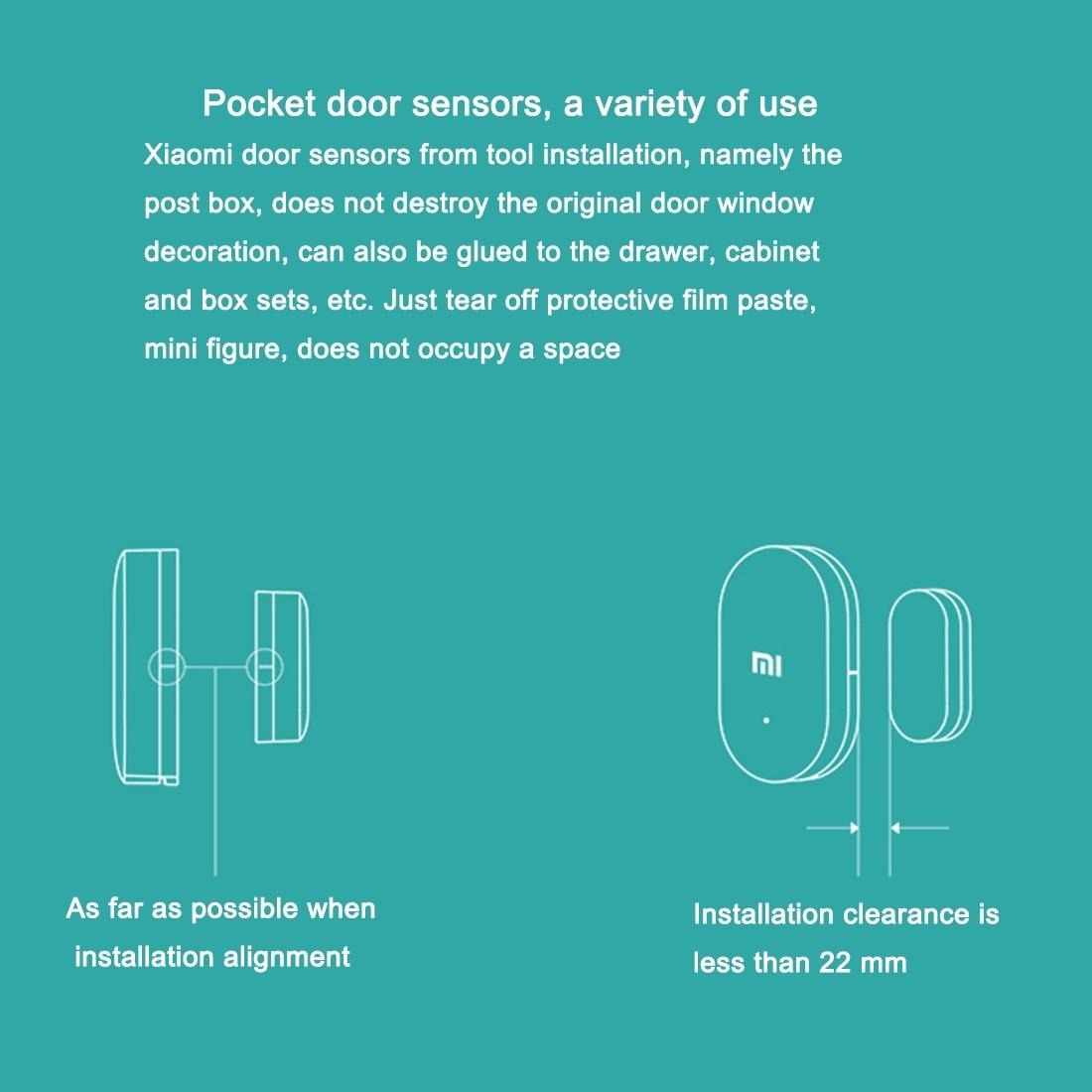 image for 100% Original  Intelligent Mini Mijia Xiaomi MI  Door Window Sensor Fo