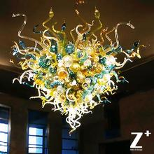 Customized Items hand blown dale chihuly art glass chandelier C0089 glass lights lamp artwork free shipping
