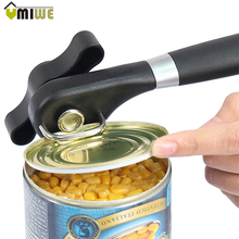 Can Opener Kitchen Tools Stainless Steel Manual Can Jar Opener with Anti Slip Grips Handle Cans Professional Side Cut Openers