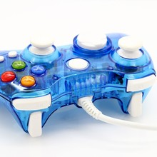 2016 BEST Seller Mini Wired Transparent Game Pad Usb Controller Joypad For Xbox 360 Blue Free Shipping