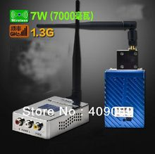FMUSER FM 1.3G 7W link wireless transmission of audio video wireless video transceiver transmitter and receiver Free shipping(China)
