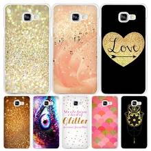 gold pink Hard White Coque Shell Case Cover Phone Cases for Samsung Galaxy A3 A5 A7 2016 2017 A8 A9