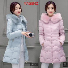 Large size Women winter jacket Thickening Fur collar To keep warm Winter coat High quality Eiderdown cotton Hooded coat K2371