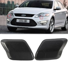 Bumper Headlamp Headlight Washer Jet Primed Cover Cap For Ford /Mondeo MK4 2007 2008 2009 2010(China)