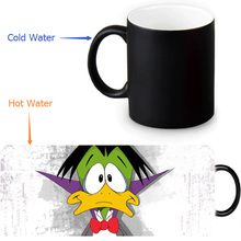 Count Duckula Magic Mug Custom Photo Heat Color Changing Morph Mug 350ml/12oz Coffee Mug Beer Milk Mug Halloween Gift