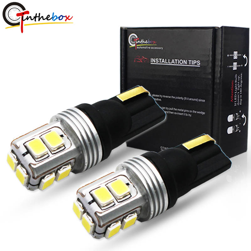 1 X Red T10 168 194 W5W 3030 SMD 10 LED Canbus Xenon Light Bulb Reverse Lamp 12v