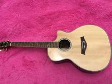 Top Quality Cutaway 814 classic acoustic guitar,Factory Custom Solid Spruce top acoustic guitar,Hand made Guitar,Free shipping