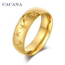 CACANA Stainless Steel Rings For Women   Union Jack Symbol Fashion Jewelry Wholesale NO.R90