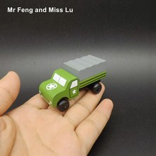 Tiny Wooden Vehicle Car Truck Military Model Educational Toys Gift For Kid(China)