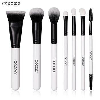 Новое Поступление Docolor 7 ШТ. составляют набор кистей Профессиональный высокое качество щетки мягкие волосы красота эфирное макияж инструменты