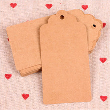 300pcs 10*5cm garment accessories blank design 3 colors art paper hang tag, zakka bread/coffee brand tags/cards