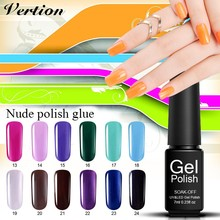 Verntion Vogue Semi Permanent Nail Gel Varnish UV Led Colors Gel Polish Nail Set Soak Off Lot Hybrid Lacquer Gel Polish(China)
