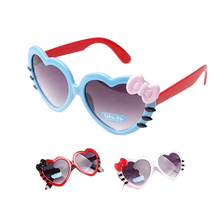 Bowknot Style Fashion Sunglasses Outdoor Love Heart-shaped Cute Baby Girls Kids Sunglasses Glass Child Goggles Eyewear