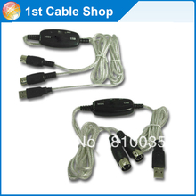 Free shipping&wholesale 5PCS/lot USB to Midi cable USB to Midi converter adapter cable cord