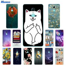 "Buy Case Xiaomi Redmi Note 4X Soft Silicone Clear TPU Cover Cat Landscape Printing Ultra Thin Xiaomi Redmi Note 4 X 5.5"" for $1.37 in AliExpress store"