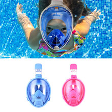 Kids Safe Full Face Mask Snorkeling Scuba Watersport Underwater Diving Swimming Snorkel Anti Fog Full-face Children Diving Mask(China)