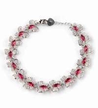 Rave reviews Red Cubic Zirconia Bracelets Silver Plated R3272 Beautiful Noble Generous best sell Shinning Promotion Best Sellers