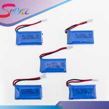 New 5pcs 7.4V 400mAh Lithium LiPo Battery For RC DM007 Airplane Quadcopter Drone Helicopter Toy Parts Global GW007 Top Quality