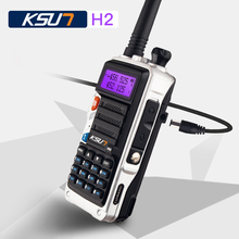 KSUN H2 10 w alta potência Dual Band Handheld Walkie Talkie Two Way Ham Radio Comunicador Transceptor HF Amador Handy(China)