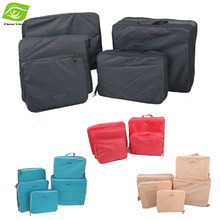 5pcs Women Travel Bags Set Packing Cubes Clothes Storage Bag Organizer Waterproof Outdoor Sport Bag