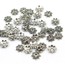 8mm 200pcs/lot Zinc Alloy Metal Bead Caps Tibetan Silver Gold Plated Flower End Beads Caps Charms For Jewelry Making(yiwu)