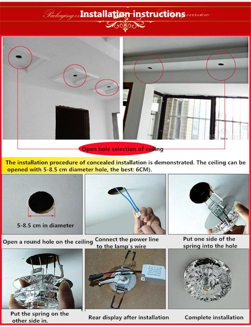 LED Crystal Aisle Celling Light (2)