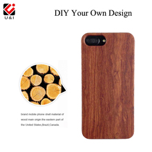 Blank U&I Wood Phone Case Laser Engrave Cover Coque for iPhone 5 5S 6 6S 6PLUS 7 7PLUS Full TPU Protector Custom LOGO DIY Photo(China)