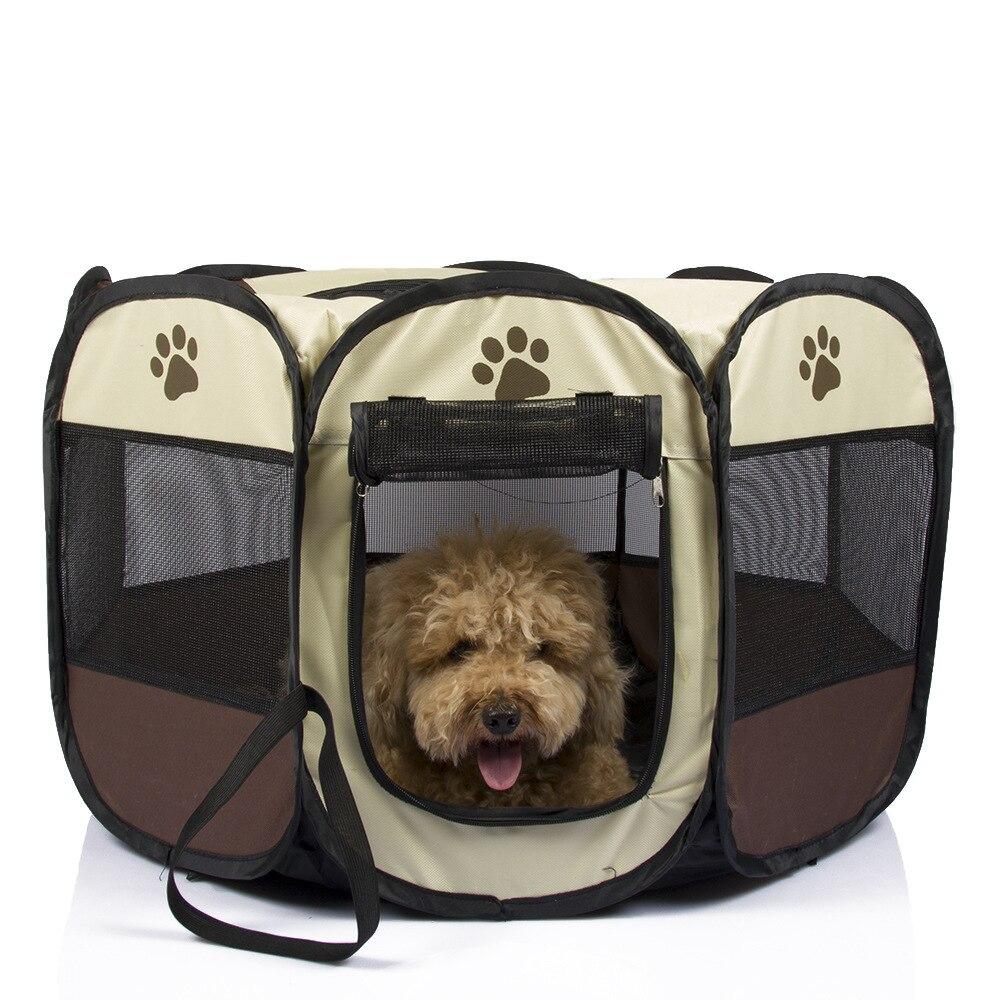 Techome Pet палатка портативный манеж собака складной ящик Конура щенок ручка Soft питомник Новый Cat клетка 2017 Лидер продаж(China)