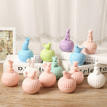 5 colors ceramic animal jewelry box stud earring necklace accessories storage box Ceramic Sugar Bowl Canister(China (Mainland))